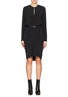 Zero + Maria Cornejo Women's Libe Silk Crepe Belted Dress