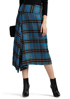 Zero + Maria Cornejo Women's Madira Asymmetric Pleated Plaid Skirt