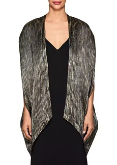 Zero + Maria Cornejo Women's Mala Metallic Crinkled Silk-Blend Coat