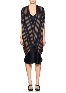Zero + Maria Cornejo Women's Mala Striped Canvas Coat