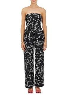 Zero + Maria Cornejo Women's Pia Abstract-Pattern Jacquard Jumpsuit