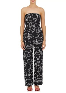 Zero + Maria Cornejo Women's Pia Abstract-Pattern Jacquard Jumpsuit