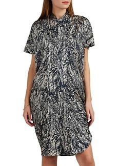 Zero + Maria Cornejo Women's Sadie Hair-Print Stretch-Silk Shirtdress