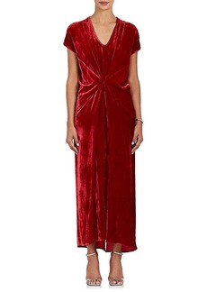 Zero + Maria Cornejo Women's Sana Gathered Velvet Maxi Dress
