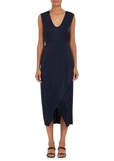 Zero + Maria Cornejo Women's Silk-Blend Charmeuse Wrap-Skirt Dress