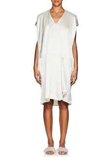 Zero + Maria Cornejo Women's Slub-Twill Cap-Sleeve Shift Dress