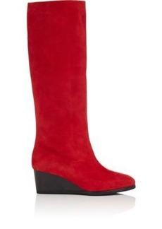 Zero + Maria Cornejo Women's Suede Wedge Knee Boots