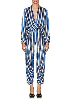 Zero + Maria Cornejo Women's Takeo Striped Twill Jumpsuit