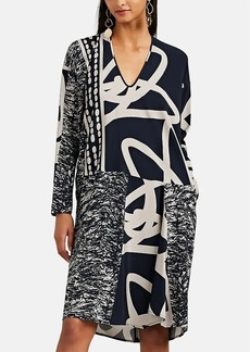 Zero + Maria Cornejo Women's Tero Mixed-Print Silk Shift Dress