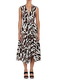 Zero + Maria Cornejo Women's Wave Bark-Print Silk-Blend Dress