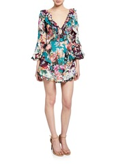Zimmermann Allia Spliced Short Dress