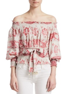Zimmermann Bayou Off-The-Shoulder Blouse