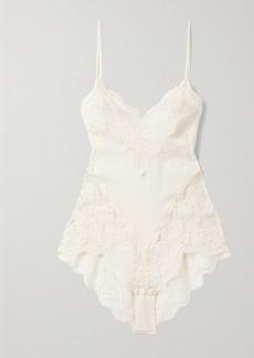 Zimmermann Botanica Lace And Cotton-voile Bodysuit