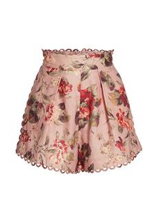 Zimmermann Cassia Scallop-Trim Shorts