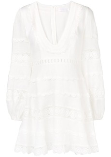 Zimmermann Castile plunge mini dress