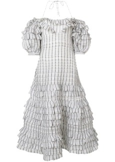Zimmermann checked folds dress