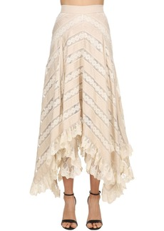 Zimmermann Chevron Lace Long Skirt