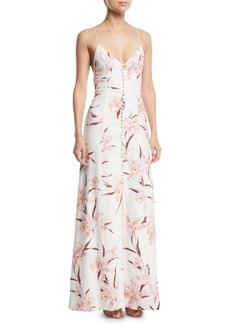 Zimmermann Corsage Floral Strappy-Back Maxi Dress