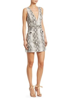 Zimmermann Corsage Linen Python Print Dress
