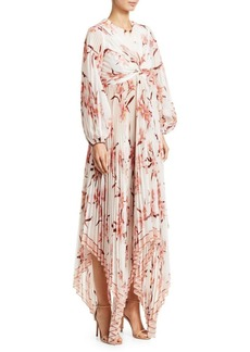 Zimmermann Corsage Orchid Pleated Maxi Dress