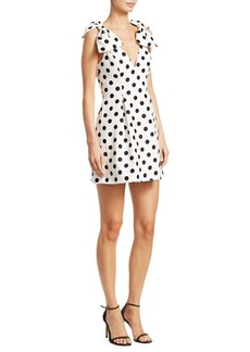 Zimmermann Corsage Polka Dot Bow Shoulder Dress