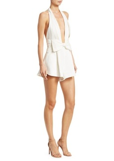 Zimmermann Corsage Tie Halter Neck Playsuit