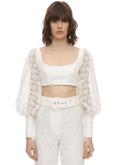 Zimmermann Cropped Lace Top