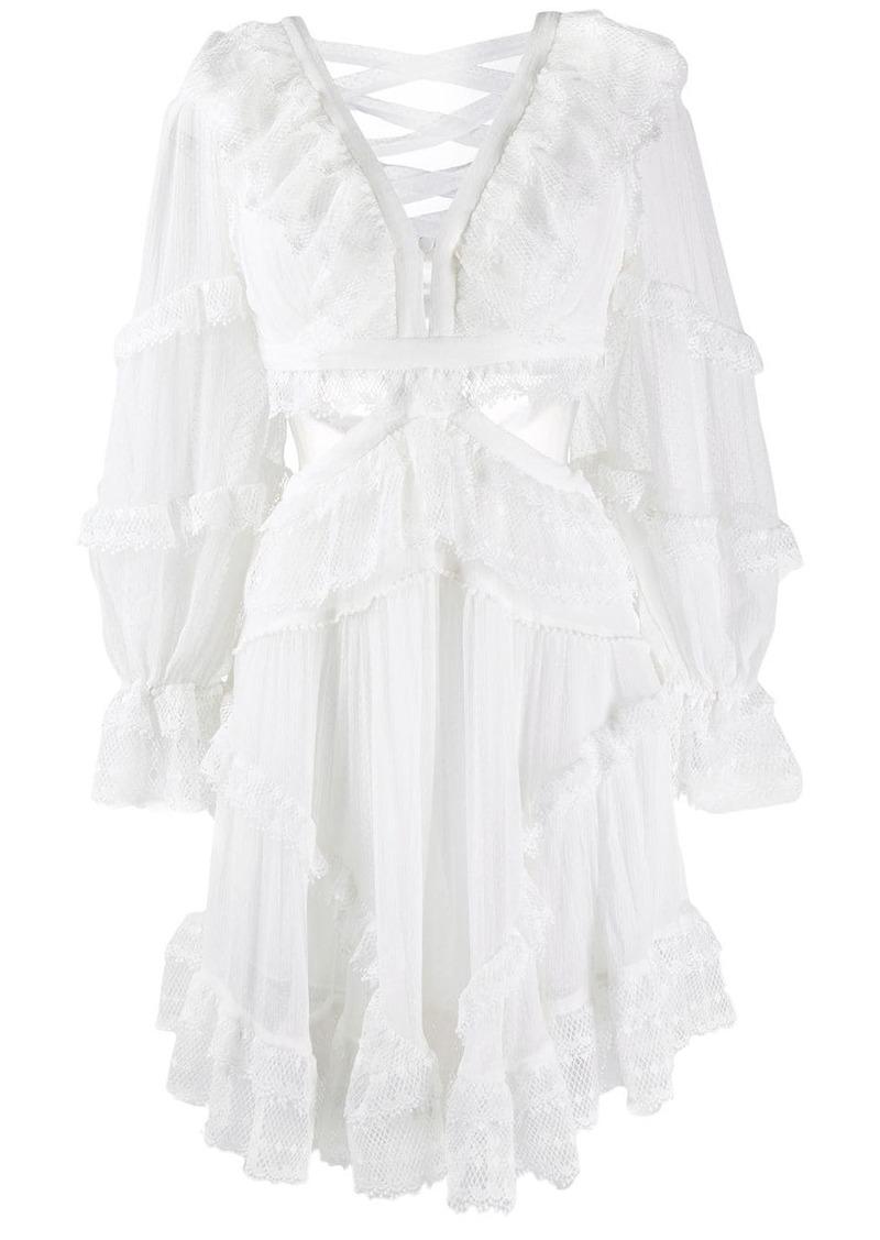 Zimmermann cut-out ruffled dress