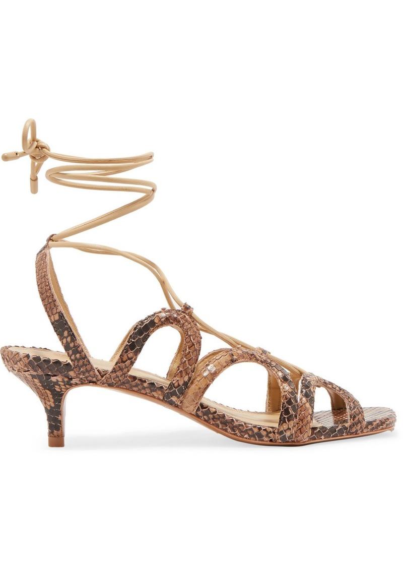 Zimmermann Cutout Snake-effect Leather Sandals