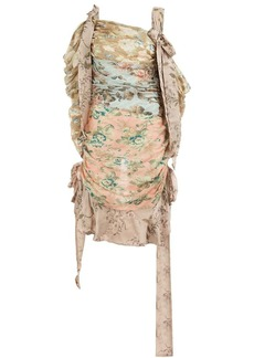 Zimmermann draped floral dress