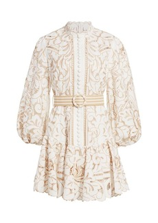 Zimmermann Edie Embroidered Lace Mini Dress