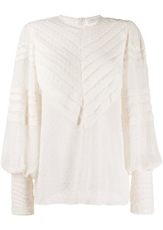 Zimmermann embroidered detail blouse