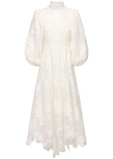 Zimmermann Embroidered Linen Dress