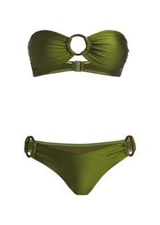Zimmermann Empire Two-Piece Ring Bandeau Bikini Set