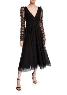 Zimmermann Espionage Long-Sleeve Tulle Ballet Dress