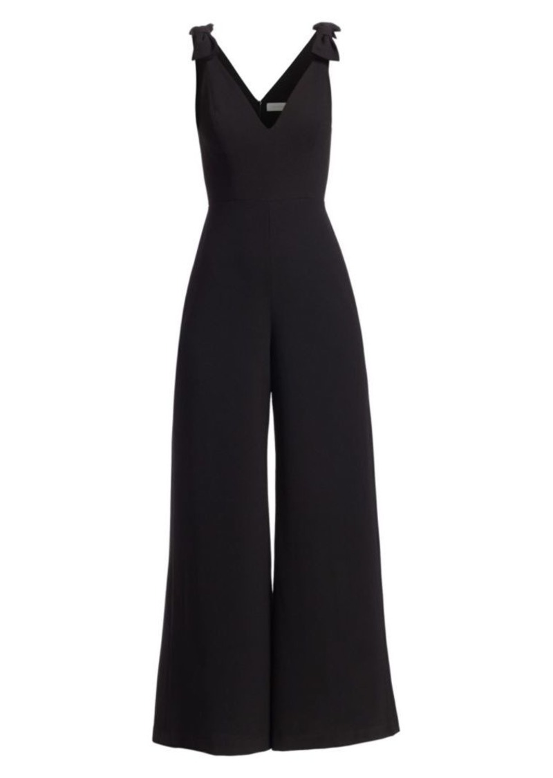 Eye Spy Bow Crepe Jumpsuit