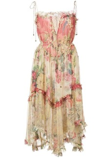 Zimmermann flared frilled floral dress