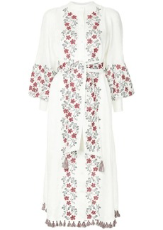 Zimmermann floral embroidery shirt dress