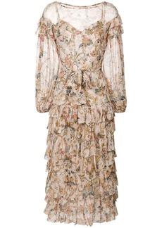 Zimmermann floral frill dress