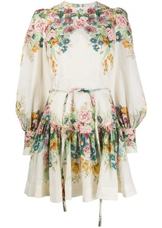 Zimmermann floral-print flared dress