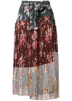 Zimmermann floral print pleated skirt