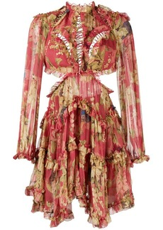 Zimmermann floral print ruffle dress