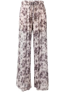 Zimmermann floral sheer trousers