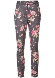 Zimmermann floral straight leg trousers