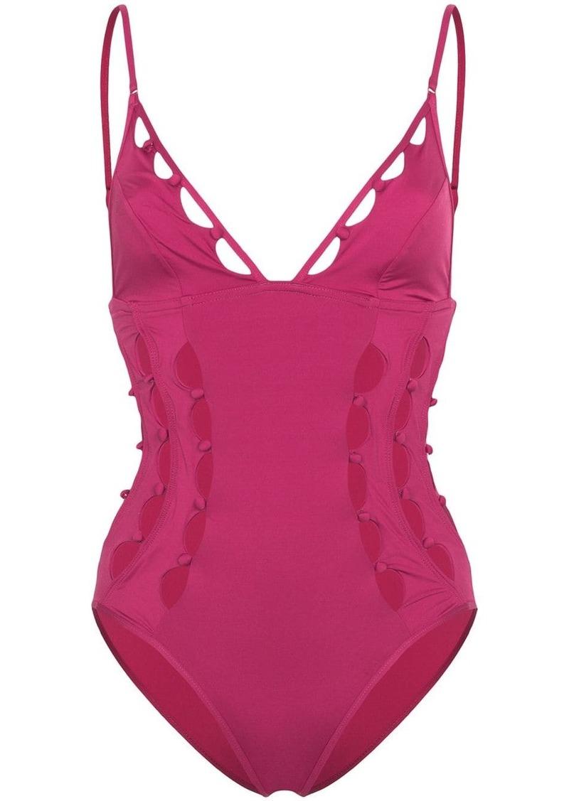 Zimmermann Goldie Crescent cut-out swimsuit