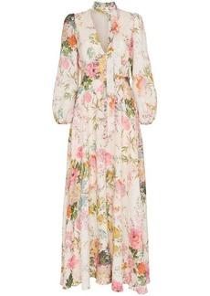 Zimmermann Heather garden floral print maxi dress