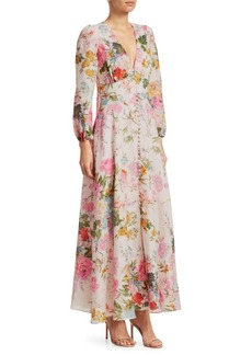 Zimmermann Heathers Floral Linen Maxi Dress