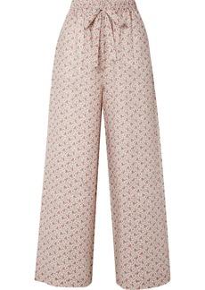 Zimmermann Heathers Floral-print Linen High-rise Wide-leg Pants