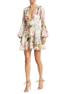 Zimmermann Heathers Flounce Floral Dress