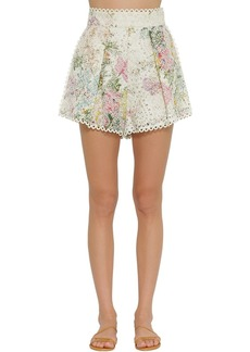Zimmermann Heathers High Waisted Cotton Shorts